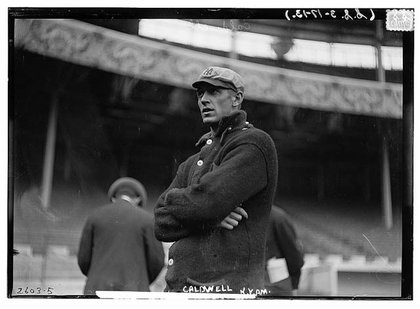 Ray Caldwell of the New York Yankees in 1913 at the Polo Grounds.