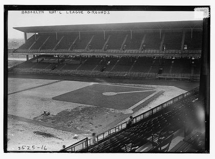 Ebbets Field in Brooklyn in 1913, prior to opening.