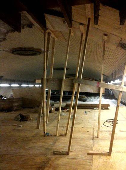 """repairing the ceiling"""