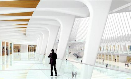 Rendering of the WTC transit hub