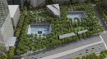 Rendering of the memorial, Reflecting Absence