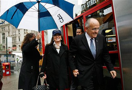 Rudy Giuliani with Judi Giuliani