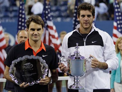 Federer and del Potro show off their hardware