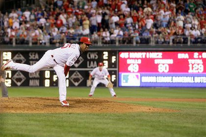 Pedro Martinez pitches