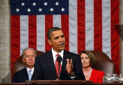 President Obama speaks to Congress