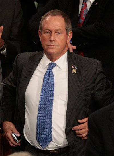 "Rep. Joe Wilson of South Carolina, who yelled, ""You lie!"" at President Obama"
