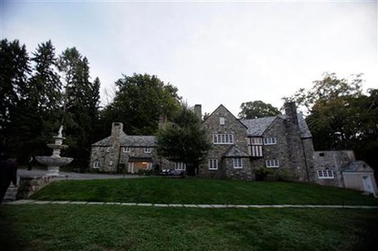 The Bedford NY estate where the tent was being set up