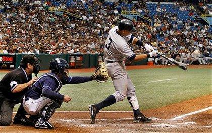 Alex Rodriguez hits a grand slam