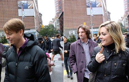 30 Rock actors Jack McBrayer (left) and Jane Krakowski