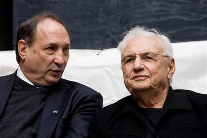 Developer Bruce Ratner and architect Frank Gehry