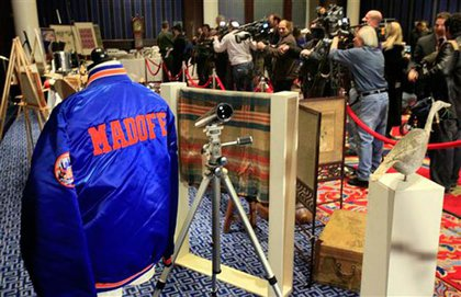 Madoff's Mets jacket, which was auctioned by the U.S. Marshals in 2009