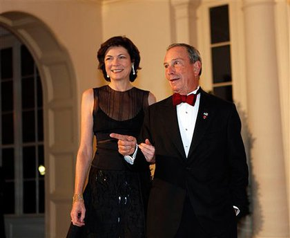 Diana Taylor and Mayor Michael Bloomberg