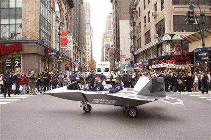 A mock airplane