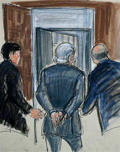 After stunning the world by admitting his successful investment firm was actually a $60+ billion Ponzi scheme, Bernard Madoff pleaded guilty to eleven criminal charges on March 12. In June, he was sentenced to 150 years in prison.  The U.S. Marshals put his Upper East Side penthouse and Montauk beach home, as well as a Palm Beach estate, on the market to raise money for victims—even his Mets jacket and watches were auctioned off.  His wife Ruth Madoff has to take the subway now and his sons, brother and niece are being sued for $199 million ill-gotten gains