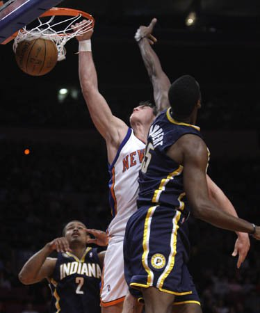 Danilo Gallinari has a poster moment against Roy Hibbert.