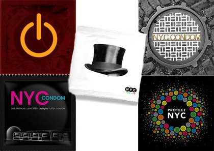 The five finalists for the NYC Department of Health's condom design contest