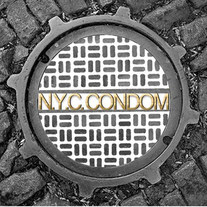 """Design by Virgil Alderson. According to the NYC Department of Health: """"In addition to its play on words, Alderson, a 39-year-old from Manhattan's Upper West Side, thinks his design reflects strength, protection, and hygiene, while also reminding New Yorkers of the critical role sewers have played in promoting public health in the city."""""""