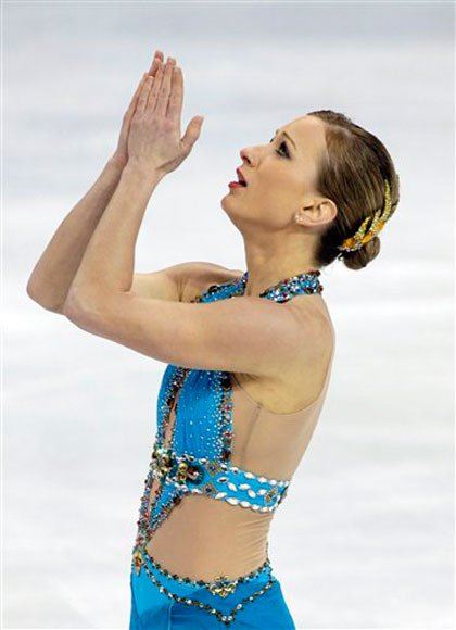 Joanie Rochette of Canada after her performance