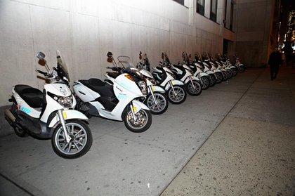 NYPD mopeds, because who knows when the cops will need to chase down protesters