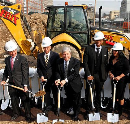 Mayor Bloomberg, Governor Paterson, Marty Markowitz, Jay-Z and  Delia Hunley-Adossa