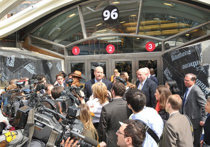 MTA CEO Jay Walder welcomes the new station