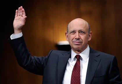 Goldman Sachs' Lloyd Blankfein is sworn in before Congress last year