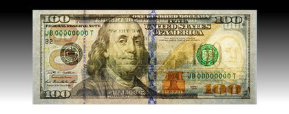 How the new bill will look backlit.