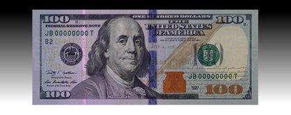 The new bill under UV light.