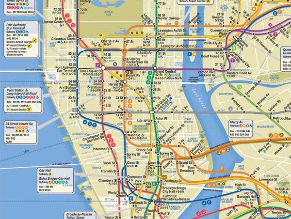subway map manhattan nyc Mta Revises Subway Map Shadows City Island Gothamist
