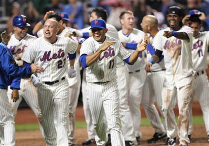 The Mets are thrilled at another victory at home.