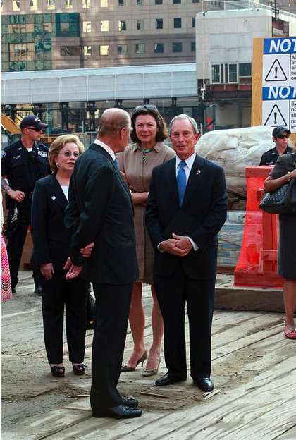 Prince Philip chats with Bloomberg