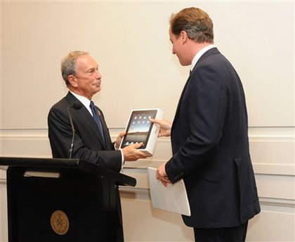 Mayor Bloomberg LOVES iPads—he even gives them to foreign dignitaries, like British PM David Cameron
