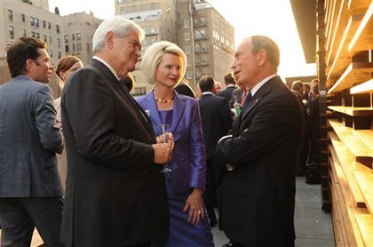 Newt and Callista Gingrich with Bloomberg