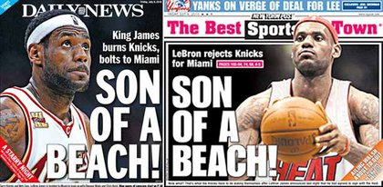 The back covers of the New York tabloids—JINX!