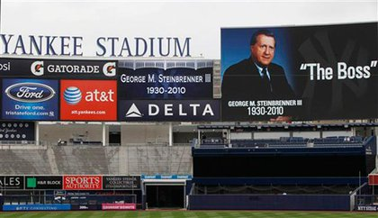 The Boss, remembered at Yankee Stadium today