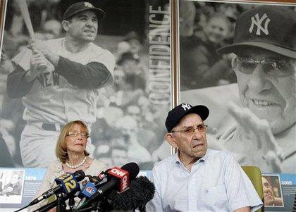 Yogi Berra discusses George Steinbrenner today