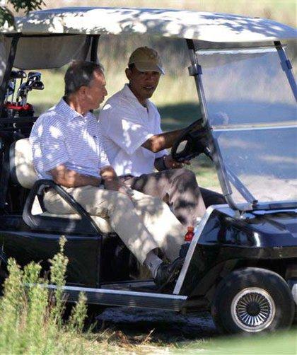 Golf carting around