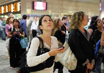 Commuters at Penn Station