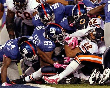 The Giants and Bears scramble
