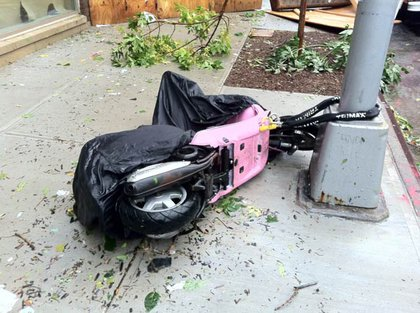 Knocked over scooter in Brooklyn