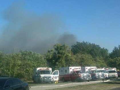 """""""Right now: #FDNY battles a 4-alarm brush fire at Buffalo St. & Hyland Blvd in Staten Island. No injuries."""""""
