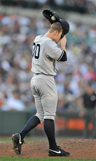 The Yankees' David Robertson in the 10th inning.