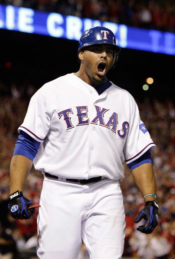 Nelson Cruz after his two-run home run in the 5th inning.