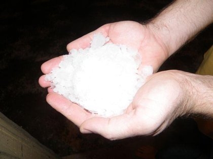 A lot of hail