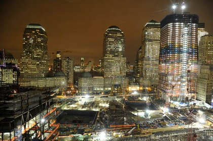 One World Trade Center, at the right