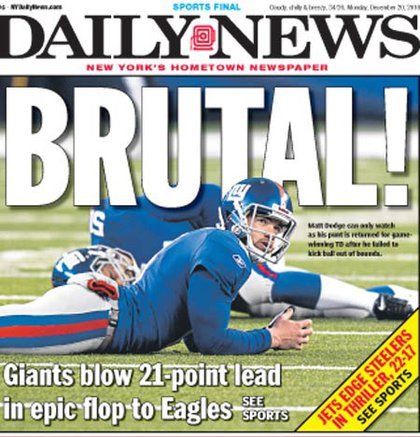 The Daily News focuses on Dodge.
