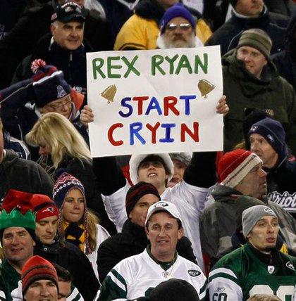 Pats fans send Rex a message