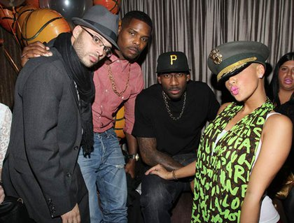 Richie Akiva, T Millz, Amare Stoudemire and Amber Rose