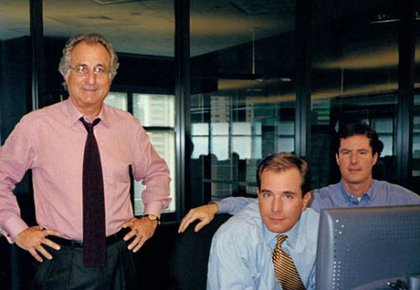 Bernard Madoff, with Mark and Andrew