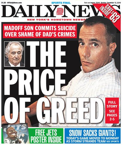 The Daily News' cover